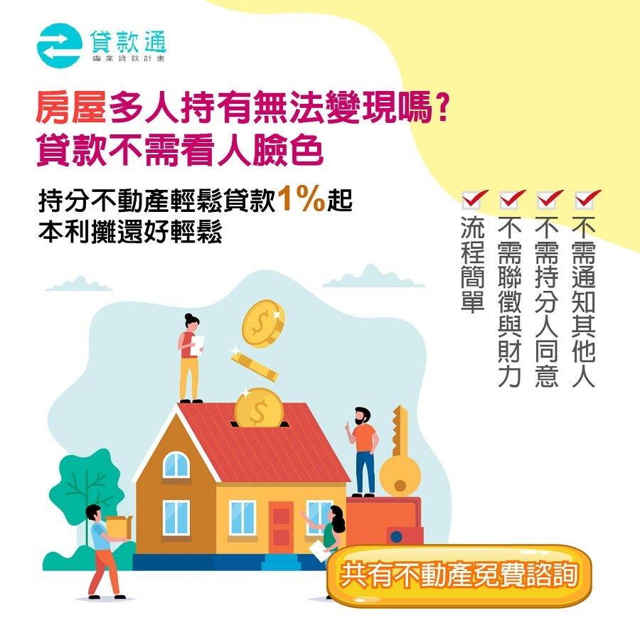 持分房屋貸款方式說明不需通知其他人